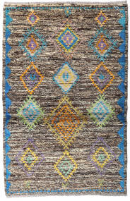 Moroccan Berber - Afghanistan Szőnyeg 93X143 Modern Csomózású Világosszürke/Sötétszürke (Gyapjú, Afganisztán)
