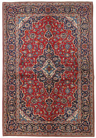 Kashan Szőnyeg 149X223 Keleti Csomózású Sötétpiros/Sötétlila (Gyapjú, Perzsia/Irán)