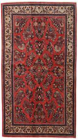 Sarough Sherkat Farsh Szőnyeg 130X232 Keleti Csomózású Sötétpiros/Rozsdaszín (Gyapjú, Perzsia/Irán)