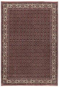 Bijar Selyemmel Szőnyeg 172X251 Keleti Csomózású Sötétbarna/Sötétpiros (Gyapjú/Selyem, Perzsia/Irán)