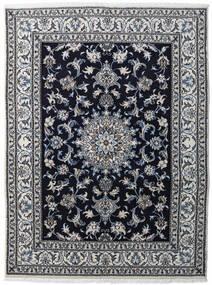 Nain Szőnyeg 147X198 Keleti Csomózású Világosszürke/Fekete/Sötétszürke (Gyapjú, Perzsia/Irán)