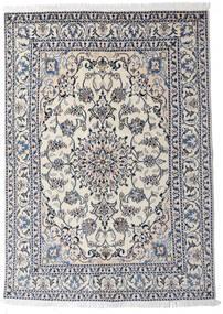 Nain Szőnyeg 145X204 Keleti Csomózású Világosszürke/Sötétszürke (Gyapjú, Perzsia/Irán)