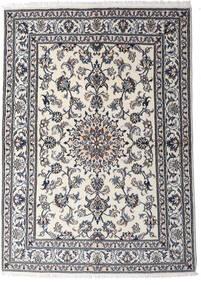 Nain Szőnyeg 147X206 Keleti Csomózású Világosszürke/Sötétszürke (Gyapjú, Perzsia/Irán)