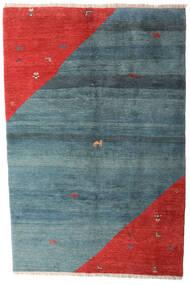 Gabbeh Rustic Szőnyeg 203X305 Modern Csomózású Kék/Rozsdaszín (Gyapjú, Perzsia/Irán)