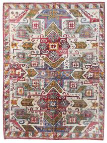 Sari Tiszta Selyem Szőnyeg 251X341 Modern Csomózású Sötétszürke/Világosszürke Nagy (Selyem, India)