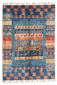Modern Afgán Szőnyeg 87X124 Modern Csomózású Sötétkék/Kék (Gyapjú, Afganisztán)