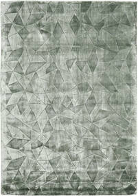 Crystal - Másodlagos Szőnyeg 140X200 Modern Sötétzöld/Sötétzöld ( India)