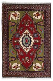Gabbeh Kashkooli Szőnyeg 80X122 Modern Csomózású Sötétpiros/Sötétszürke (Gyapjú, Perzsia/Irán)