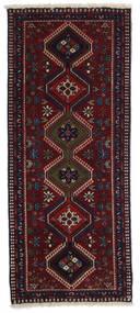 Yalameh Szőnyeg 60X145 Keleti Csomózású Sötétpiros (Gyapjú, Perzsia/Irán)