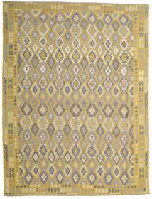 Kilim Afgán Old Style Szőnyeg 302X404 Keleti Kézi Szövésű Világosszürke/Sárga Nagy (Gyapjú, Afganisztán)
