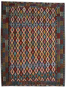 Kilim Afgán Old Style Szőnyeg 305X404 Keleti Kézi Szövésű Fekete/Sötétpiros Nagy (Gyapjú, Afganisztán)
