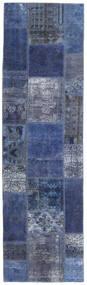 Patchwork - Persien/Iran Szőnyeg 73X253 Modern Csomózású Sötétkék/Világoslila (Gyapjú, Perzsia/Irán)