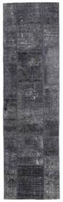 Patchwork - Persien/Iran Szőnyeg 71X251 Modern Csomózású Sötétszürke/Világoslila (Gyapjú, Perzsia/Irán)