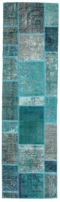 Patchwork - Persien/Iran Szőnyeg 70X249 Modern Csomózású Sötét Turquoise/Türkiz Kék (Gyapjú, Perzsia/Irán)