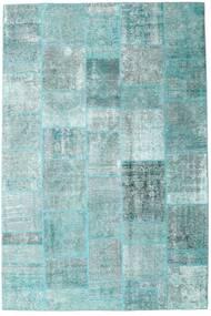 Patchwork - Persien/Iran Szőnyeg 205X303 Modern Csomózású Világoskék/Pasztellzöld/Türkiz Kék (Gyapjú, Perzsia/Irán)