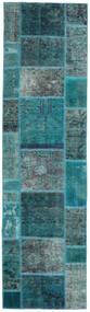 Patchwork - Persien/Iran Szőnyeg 80X296 Modern Csomózású Sötét Turquoise/Türkiz Kék (Gyapjú, Perzsia/Irán)