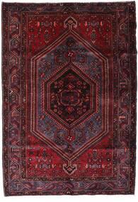 Hamadán Szőnyeg 162X234 Keleti Csomózású Sötétpiros (Gyapjú, Perzsia/Irán)