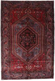 Hamadán Szőnyeg 158X233 Keleti Csomózású Sötétpiros (Gyapjú, Perzsia/Irán)