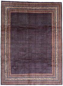 Sarough Mir Szőnyeg 268X365 Keleti Csomózású Fekete/Sötétlila Nagy (Gyapjú, Perzsia/Irán)