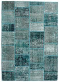 Patchwork - Persien/Iran Szőnyeg 168X234 Modern Csomózású Sötét Turquoise/Türkiz Kék (Gyapjú, Perzsia/Irán)
