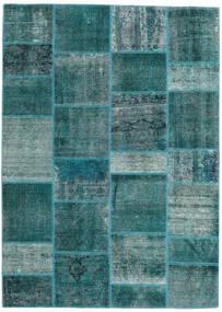Patchwork - Persien/Iran Szőnyeg 167X231 Modern Csomózású Sötét Turquoise/Türkiz Kék (Gyapjú, Perzsia/Irán)