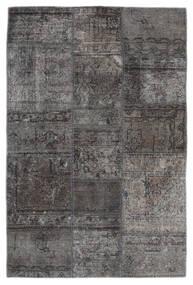 Patchwork - Persien/Iran Szőnyeg 105X159 Modern Csomózású Sötétszürke/Fekete (Gyapjú, Perzsia/Irán)