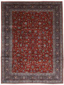 Kashan Szőnyeg 278X367 Keleti Csomózású Sötétpiros/Sötétbarna Nagy (Gyapjú, Perzsia/Irán)