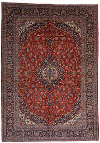 Kashan Szőnyeg 303X403 Keleti Csomózású Sötétpiros Nagy (Gyapjú, Perzsia/Irán)