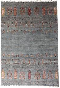 Shabargan Szőnyeg 207X303 Modern Csomózású Sötétszürke/Kék (Gyapjú, Afganisztán)