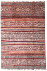 Shabargan Szőnyeg 199X298 Modern Csomózású Sötétpiros/Világoslila (Gyapjú, Afganisztán)