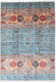 Shabargan Szőnyeg 207X295 Modern Csomózású Világosszürke/Világoskék (Gyapjú, Afganisztán)