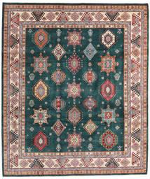 Kazak Szőnyeg 250X294 Keleti Csomózású Sötét Turquoise/Barna Nagy (Gyapjú, Afganisztán)