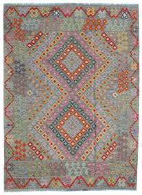 Kilim Afgán Old Style Szőnyeg 170X234 Keleti Kézi Szövésű Sötétszürke/Világosbarna (Gyapjú, Afganisztán)