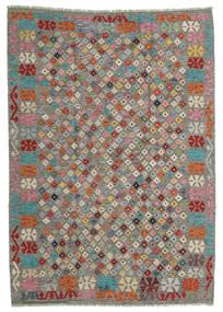 Kilim Afgán Old Style Szőnyeg 168X236 Keleti Kézi Szövésű Világosszürke/Sötétszürke (Gyapjú, Afganisztán)