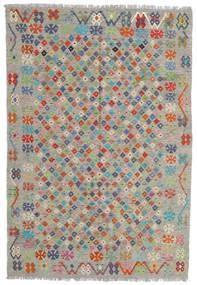 Kilim Afgán Old Style Szőnyeg 176X255 Keleti Kézi Szövésű Világosszürke/Sötétszürke (Gyapjú, Afganisztán)
