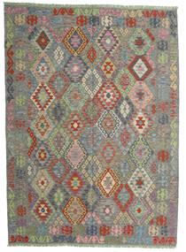 Kilim Afgán Old Style Szőnyeg 174X239 Keleti Kézi Szövésű Sötétszürke/Világosszürke (Gyapjú, Afganisztán)