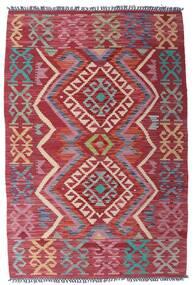 Kilim Afgán Old Style Szőnyeg 99X151 Keleti Kézi Szövésű Sötétpiros/Bíbor (Gyapjú, Afganisztán)