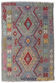 Kilim Afgán Old Style Szőnyeg 98X148 Keleti Kézi Szövésű Világosszürke/Sötétszürke (Gyapjú, Afganisztán)