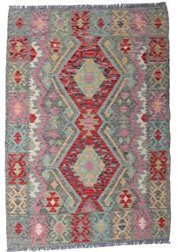 Kilim Afgán Old Style Szőnyeg 103X148 Keleti Kézi Szövésű Világosszürke/Sötétszürke (Gyapjú, Afganisztán)