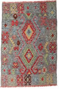 Kilim Afgán Old Style Szőnyeg 99X145 Keleti Kézi Szövésű Sötétszürke/Sötétpiros (Gyapjú, Afganisztán)