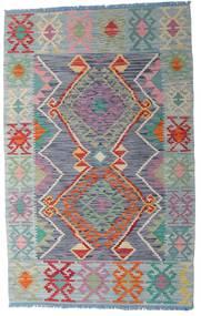 Kilim Afgán Old Style Szőnyeg 103X163 Keleti Kézi Szövésű Sötétszürke/Világoszöld (Gyapjú, Afganisztán)