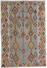 Kilim Modern Szőnyeg 200X287 Modern Kézi Szövésű Világosszürke/Világosbarna (Gyapjú, Afganisztán)