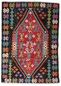 Kilim Afgán Old Style Szőnyeg 107X150 Keleti Kézi Szövésű Fekete/Rozsdaszín (Gyapjú, Afganisztán)