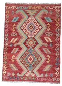 Kilim Afgán Old Style Szőnyeg 102X140 Keleti Kézi Szövésű Sötétpiros/Rozsdaszín (Gyapjú, Afganisztán)