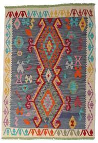 Kilim Afgán Old Style Szőnyeg 106X151 Keleti Kézi Szövésű Sötétszürke/Sötétpiros (Gyapjú, Afganisztán)