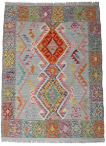 Kilim Afgán Old Style Szőnyeg 105X144 Keleti Kézi Szövésű Sötétszürke/Világosszürke (Gyapjú, Afganisztán)