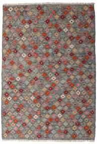 Kilim Afgán Old Style Szőnyeg 107X155 Keleti Kézi Szövésű Sötétszürke/Világosszürke (Gyapjú, Afganisztán)