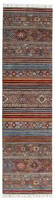 Shabargan Szőnyeg 82X304 Modern Csomózású Sötétpiros/Sötétbarna (Gyapjú, Afganisztán)