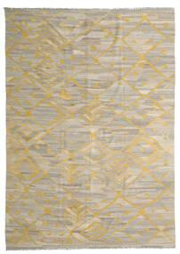 Kilim Ariana Szőnyeg 250X342 Modern Kézi Szövésű Világosszürke/Sárga Nagy (Gyapjú, Afganisztán)
