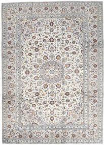 Kashan Szőnyeg 250X346 Keleti Csomózású Világosszürke/Bézs Nagy (Gyapjú, Perzsia/Irán)